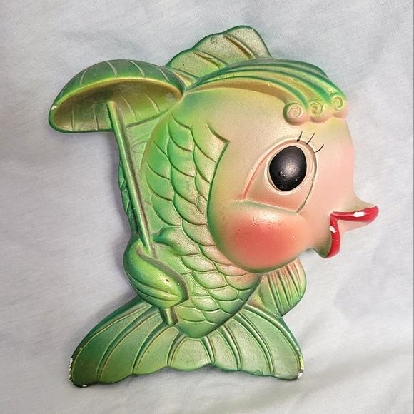 VTG Chalkware 1969 Miller Studio Lady Fish